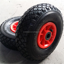 260 x 85 2PR rubber pneumatic wheel with plastic hub