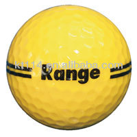 wholesale good quality yellow golf driving range ball
