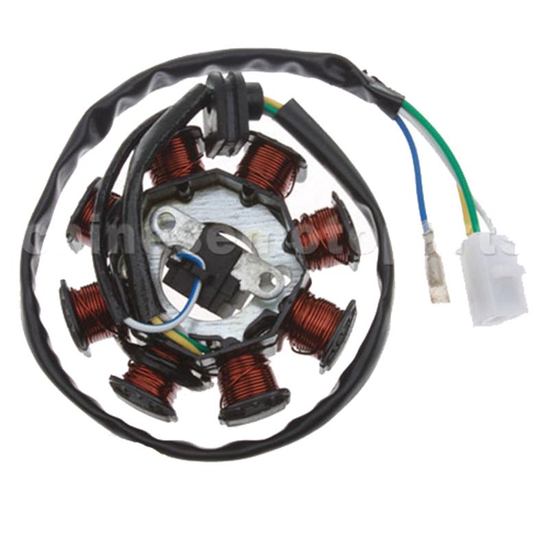 5 wires Stator Magneto 8 Coils For GY6  ATVs Quad Go Kart 50cc-150cc