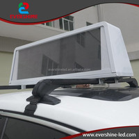 Outdoor smd module programmable scrolling led sign for taxi