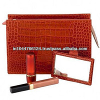 Cosmetics bags and cases wholesale on alibaba / oem zipper leather professional makeup bag