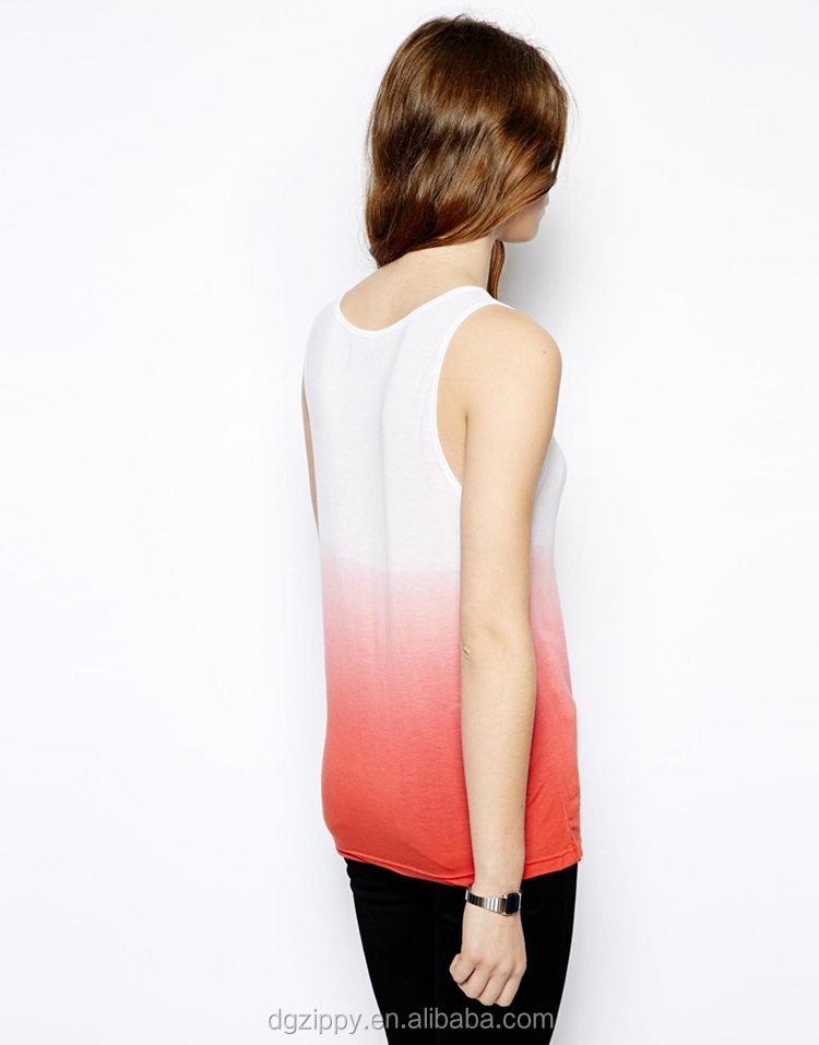 100% Modal Women's Top Dip Dye Custom Womens Tank Top