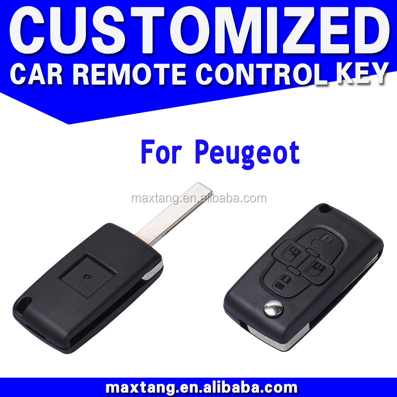 Auto Folding Remote FOB Key Case for Peugeot Car Key 4 Buttons Car Key Cover CS163