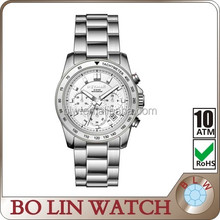 geneva stainless steel back water resistant, classic mechanical men hand watch with big discount