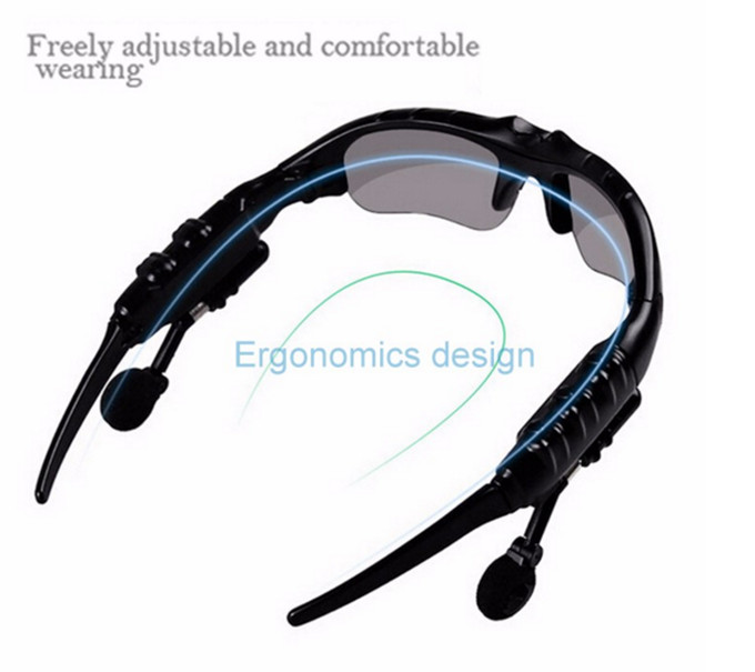 Smart Sports Sunglasses Bluetooth 4.0 Stereo Headset Headphone Polarized Glasses