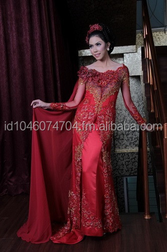 Kebaya Wedding Dress Red 2015