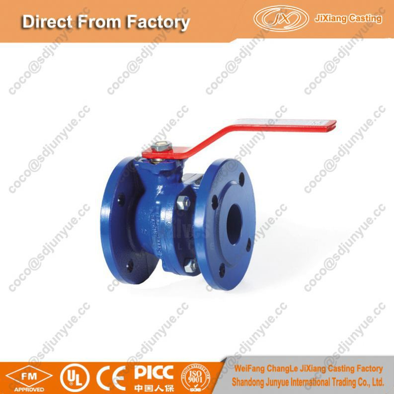 Made in China sand casting gray iron ball valve with factory price