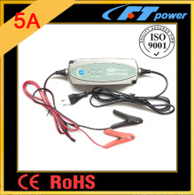 5A 12V automatic smart battery charger, Motorcycle Car Boat Trickle Maintenance intelligent charger for WET MF AGM GEL