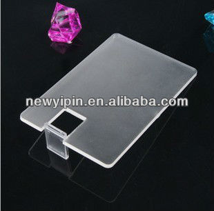 Transparent plastic card USB pen drive