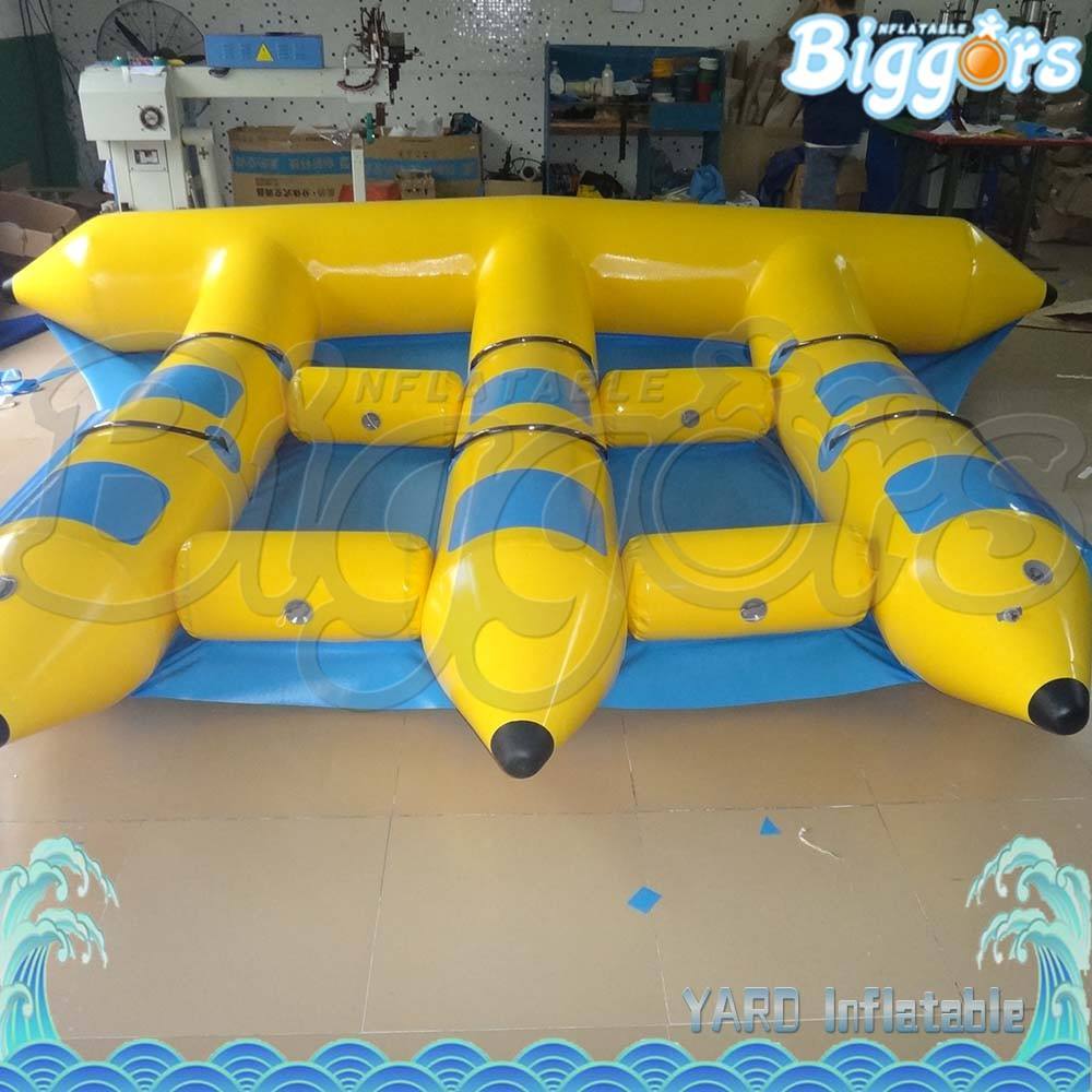 Four People Fly Fish Water Sports Surfing Water Games Inflatable Flyfish