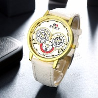 Popular cheap watch, white ladies fashion watches latest