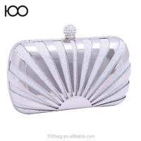 Gold Clutch Bags Sun Style Luxury Metallic Evening Bag Woman Party Clutches Elegant Bridesmaid Handbag Shell Stripe Purse