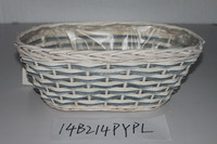 Wood chip gift Basket; Willow Garden Basket;