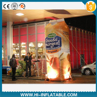 Hottest giant outdoor advertising inflatable replica beverage box model, inflatable drink box replicas for sale