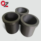 China manufacturer high strength graphite crucible for steel iron melting