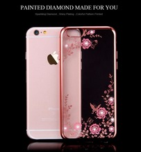 Hot sale Ultra thin soft tpu electroplated colored drawing Secret Garden pattern back cover mobile phone case for iphone 6 6s