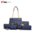 2018 Cheap Wholesale Five Pieces In One Set PU Handbags For Women