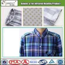 China Qsupport breathable cotton blend fabric anions sleepwear