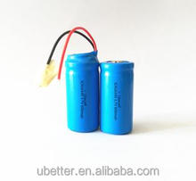 Deep Cycle Battery of 16340 3.7V 400mAh lithium Battery for Powerful Product