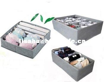 bamboo fiber underwear storage box for bra and socks