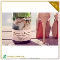 High quality Personalized Wedding Wine Label