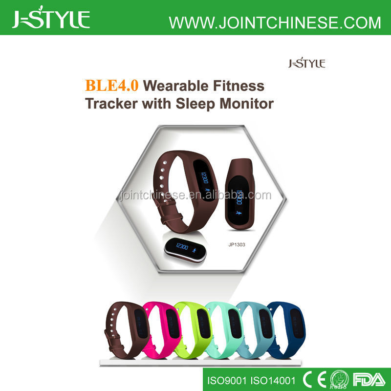 J-Style Smart Activity Tracker Sleep Monitor Bluetooth 4.0 silicone jawbone up pedometer