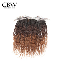 Brazilian virgin human hair silk base ombre closure frontal 13x4 lace closure frontal