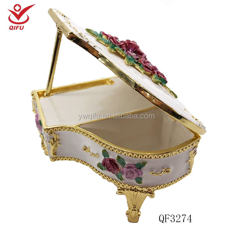 Metal custom piano shape music box