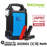 On Promotion 36000mAh 12v Lithium Polymer Battery Jump Start Car Battery Pack With Car Charger