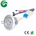 Modern 18W RGB+white led ceiling lights/ 5x3W led downlight