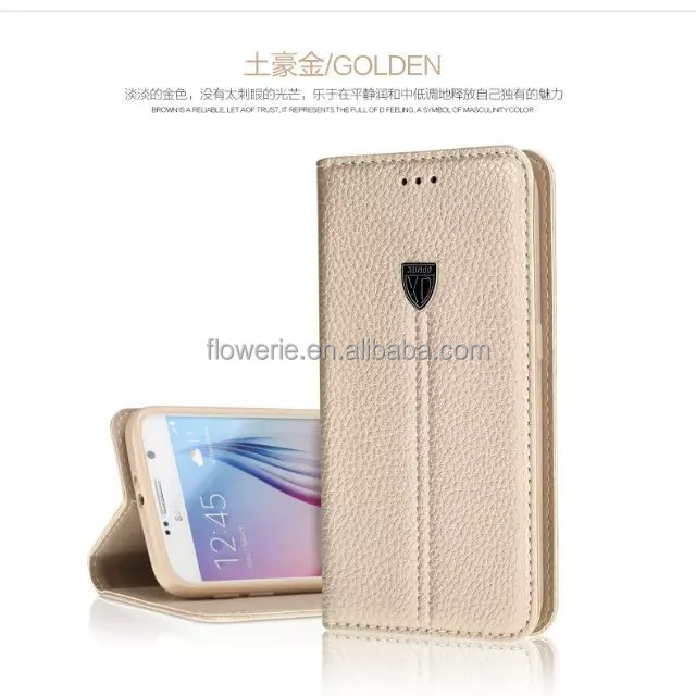 FL3551 Luxury XUNDD Magnetic PU Leather Smart Stand Cover Case For Samsung Galaxy S6 Wallet Case
