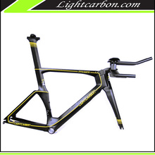 LightCarbon 700c carbon time trial bicycle frame china carbon TT frameset with good price LCTT001