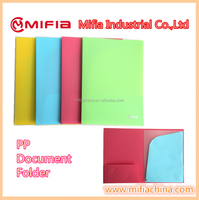 OEM colored office stationery pp promotional file folders A4 size plastic pockets document holder file