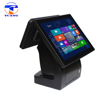 cheap retail dual touch screen pos system all in one used waterproof pos machine with printer in India