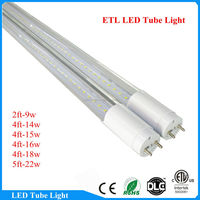 1200mm Aluminum Body 5000k ETL t8 18w led read tube
