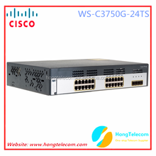 Original CISCO WS-C3750G-24TS-S1U Catalyst 3750 24 10/100/1000 + 4 SFP + IPB Image 1RU fiber optic switches