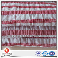 yarn dyed rep stripe wholesale crepe fabric dress material for children