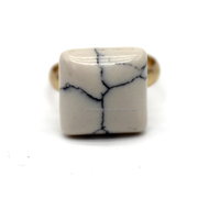 Wholesale square marble stone ring
