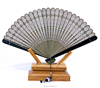 Brown Vintage Folding Bamboo Carved Hand Fan for Gift Use