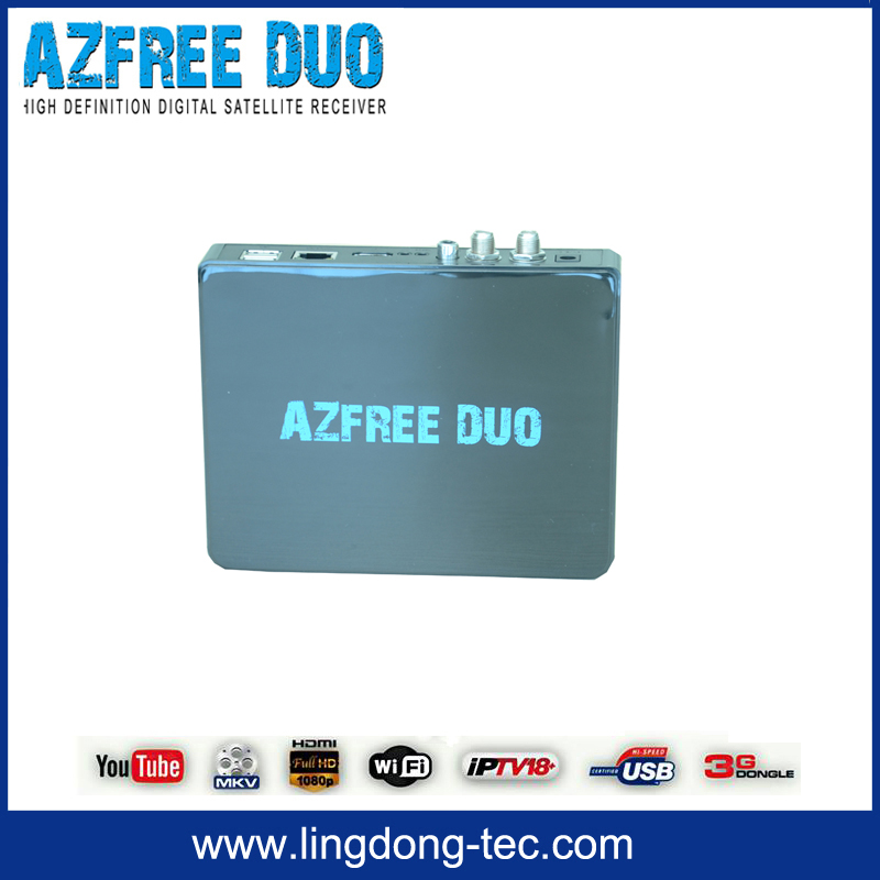 2015 Digital satellite receiver azfree duo with iptv 3G iks sks free for South America