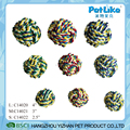 Wholesale Durable Braided Cotton rope Dog Ball Pet Chewing Toy