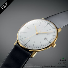 Supper thin casual fashion stainless steel watch
