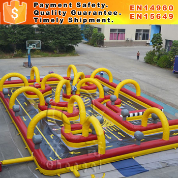 Kids inflatable go kart party race car track for sale
