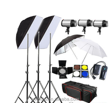 Godox 750W Photo Studio Flash Light Kit Photography Lightening Umbrella Trigger Set 110V-220v