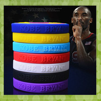 elegant colorful silicone wristband with embossed logo