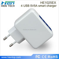 EU USB wall charger 4 USB ports