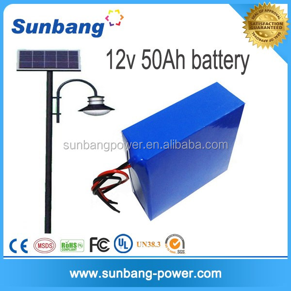 Solar power storage battery Customized high quality rechargeable lithium 12v /24v 30ah solar street light with battery backup