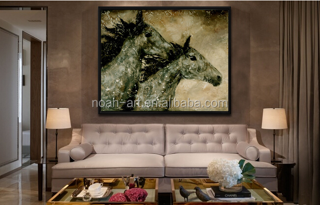 100 handpainted cheap goods from china modern horse art painting