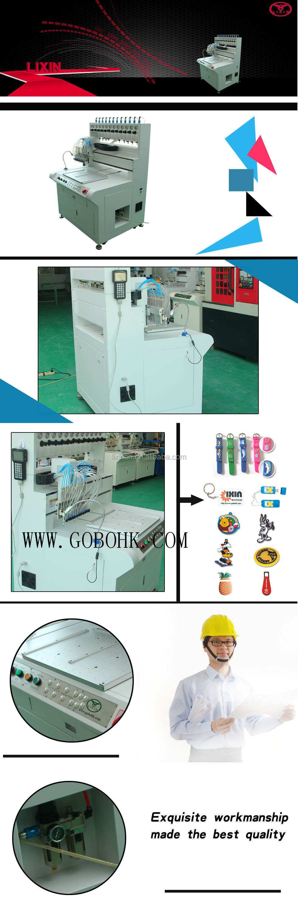 pvc dispensing machine for PVC Keychains making li xin machinery