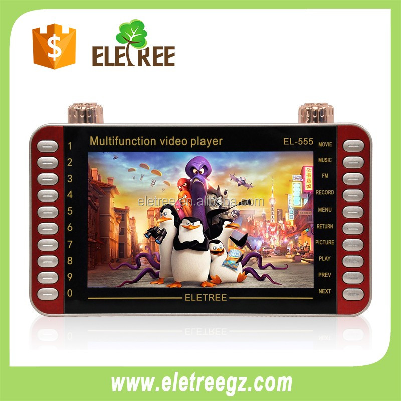 At stock ELETREE big 7inch kids mp4 player mp4 learning kids joc portable mini mp4 player 819